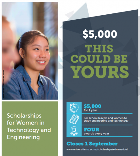 Scholarships for Women in Technology and Engineering poster
